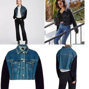 🌿 AllSaints All Saints crop denim jacket jean S
